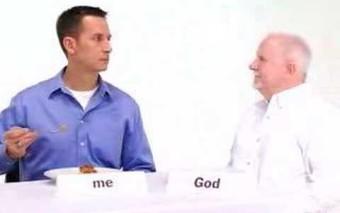 """God's pie"": ¿Tienes tiempo para Dios? / Do you have some time for God?"