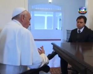 """Papa FRancisco, televisión globo, entrevista, primera entrevista, , """"La Iglesia que anhelo"""" (primera entrevista televisada al Papa Francisco)"""