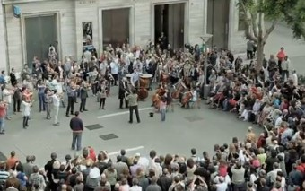 Un flashmob sinfónico con sabor a Iglesia Católica