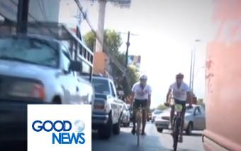 (Good News) Una travesía en bicicleta por la paz…
