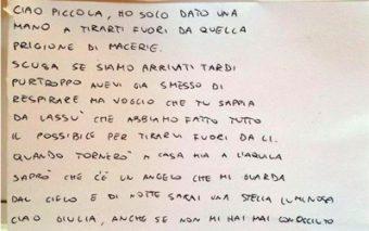 La carta del bombero italiano a la niña que no pudo rescatar con vida («Eres mi Ángel de la Guarda»)
