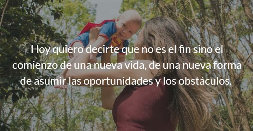 Madres, Carta abierta a todas aquellas mujeres que están embarazadas o que ya son madres