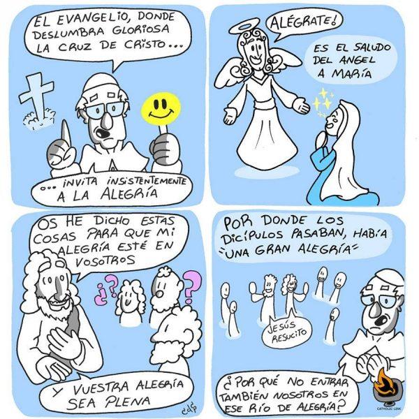 Caricatura: La alegría de la vida cristiana | Papa Francisco