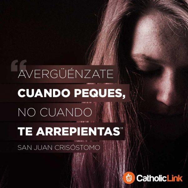 No te avergüences al arrepentirte | San Juan Crisóstomo