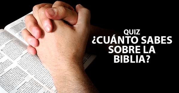 Matrimonio Biblia Quiz : Quiz ¿cuánto sabes sobre la biblia?