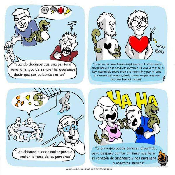 Caricatura: El chisme según el Papa Francisco