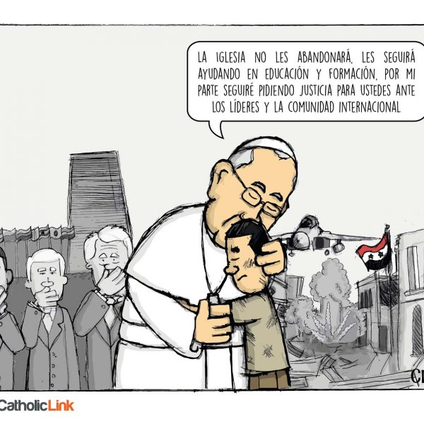 Caricatura: El Papa Francisco y los cristianos perseguidos
