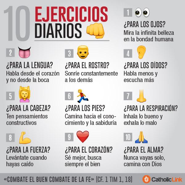 Infografía: 10 ejercicios espirituales diarios
