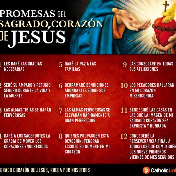 Infografía: Las 12 promesas del Sagrado Corazón de Jesús