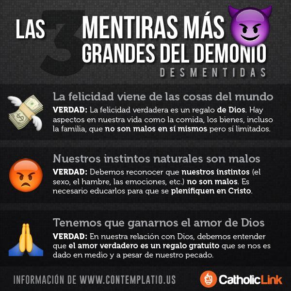 Infografía: Las 3 mentiras más grandes del demonio