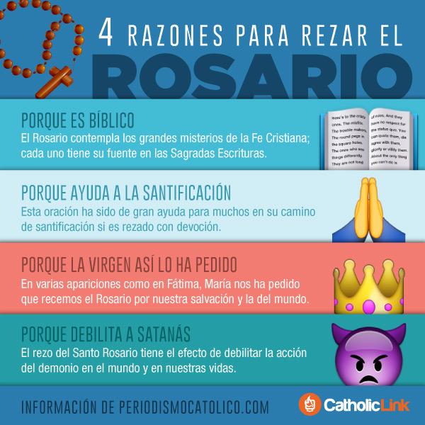 Infografía: 4 razones para rezar el Santo Rosario