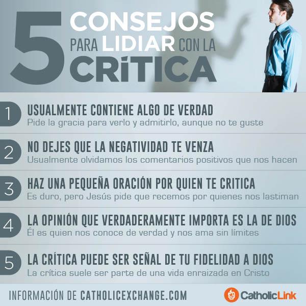 Infografía: 5 consejos para lidiar con la crítica