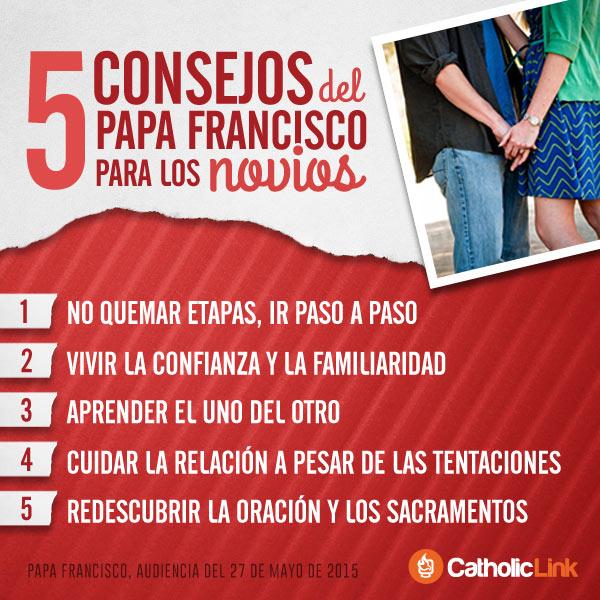 Infografía: 5 consejos del Papa Francisco para los novios