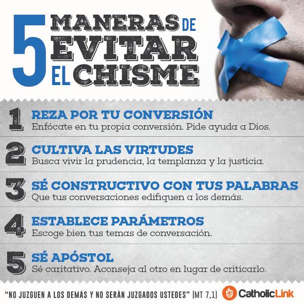 Infografía: 5 pasos para evitar el chisme