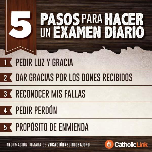 Infografía: 5 pasos para hacer un examen diario