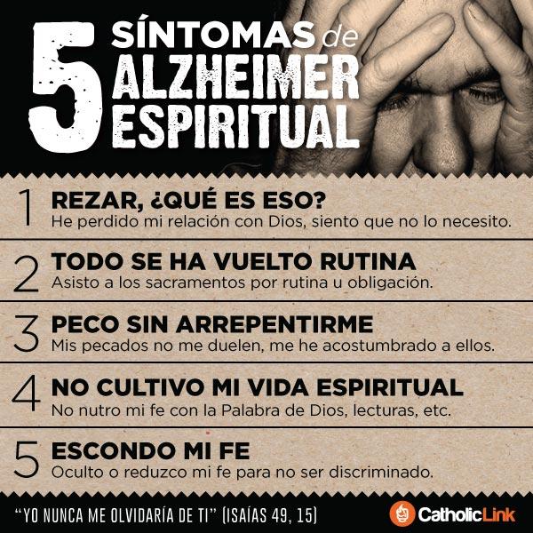 Infografía: 5 síntomas de Alzheimer espiritual