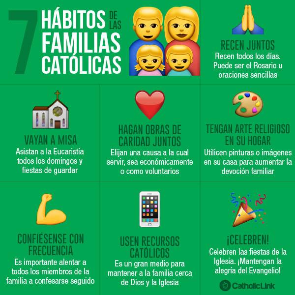 Infografía: 7 hábitos de las familias católicas
