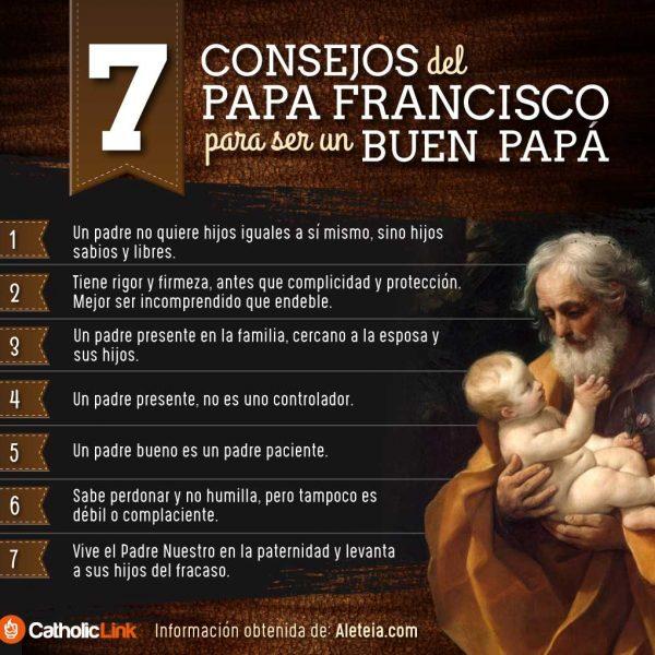 Infografía: Consejos del Papa Francisco para ser un buen papá