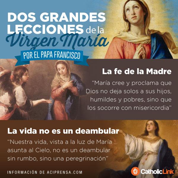 Infografía: Dos grandes lecciones de María según el Papa Francisco