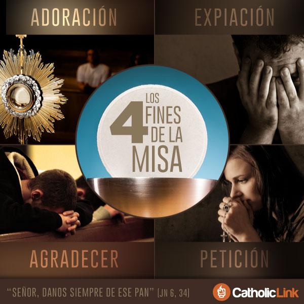 Infografía: Los 4 fines de la Santa Misa