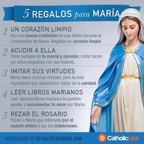 Infografía: 5 regalos para la Virgen María