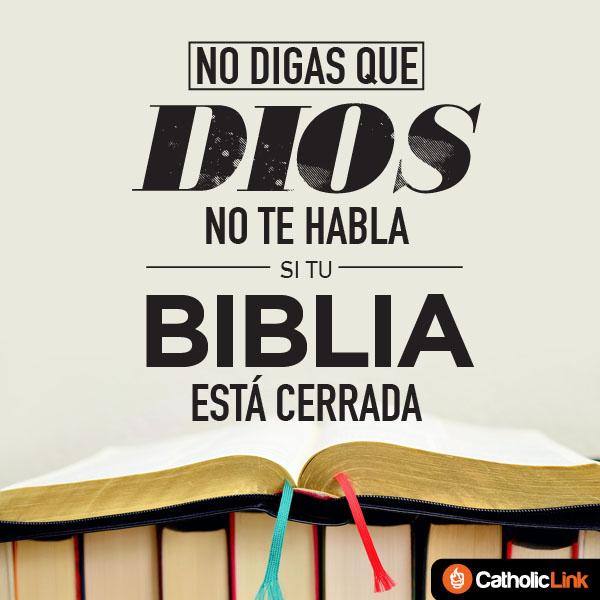 No digas que Dios no te habla si tu Biblia está cerrada