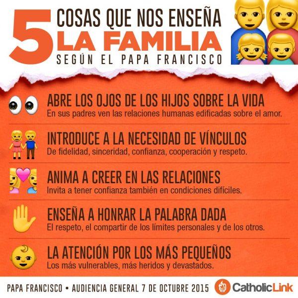 Infografía: 5 cosas que nos enseña la familia