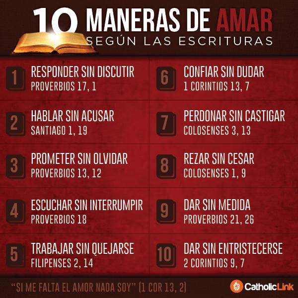 Infografía 10 Maneras De Amar Según La Biblia Catholic Link