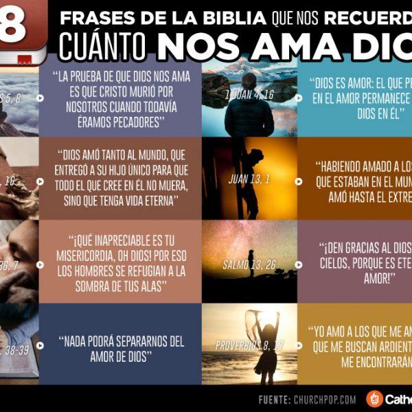 Infografía: 8 frases de la Biblia que nos recuerdan cuánto nos ama Dios