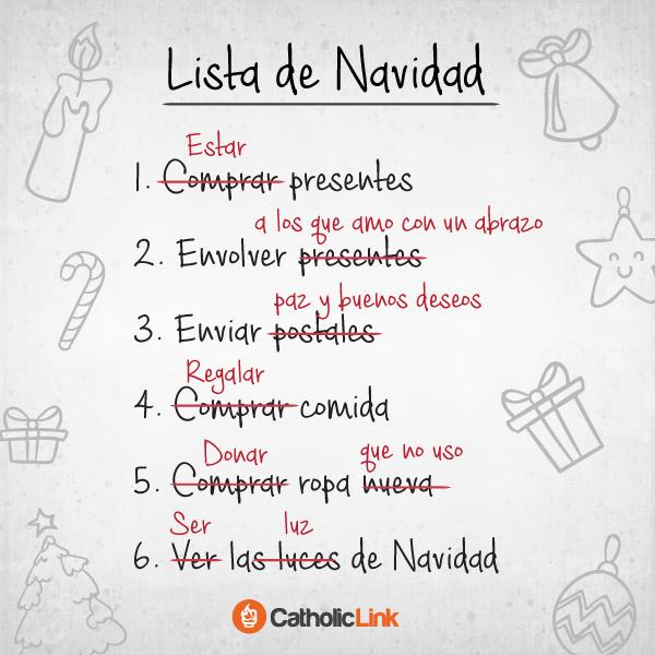 Una lista para devolverle a la Navidad su sentido