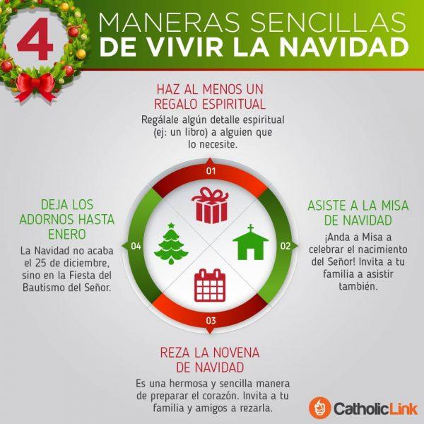 Infografía: 4 maneras sencillas de vivir la Navidad