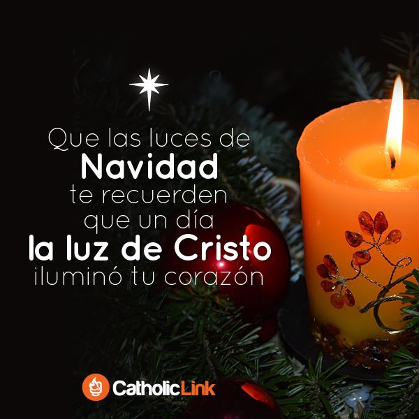 Las luces de Navidad nos recuerdan a la luz de Cristo