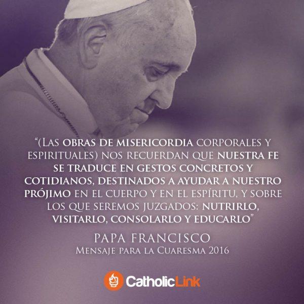 Mensaje del Papa Francisco para Cuaresma 2016