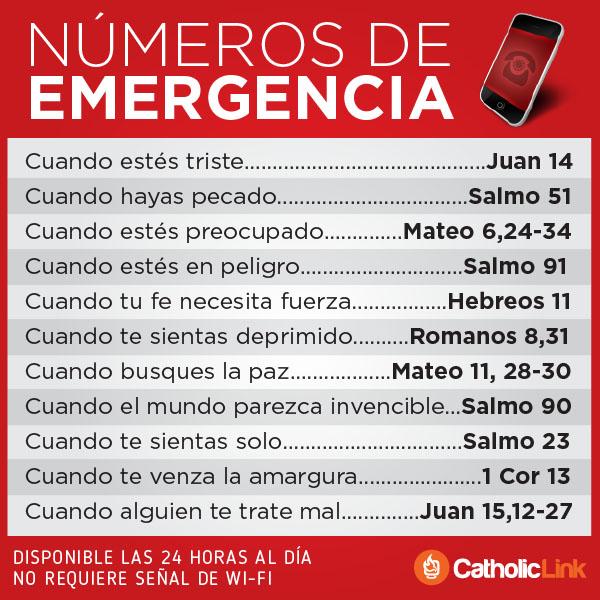Infografía: Números de emergencia en la Biblia