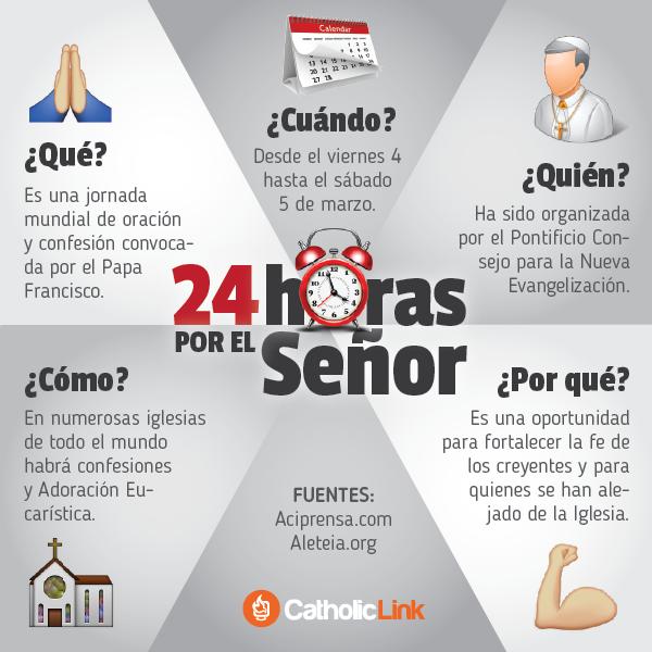 Infografía: 24 horas por el Señor convocadas por el Papa Francisco