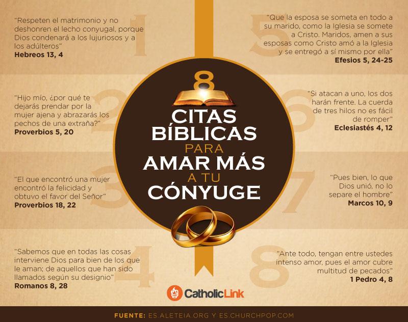Infografia 8 Citas Biblicas Para Amar Mas A Tu Conyuge Catholic Link