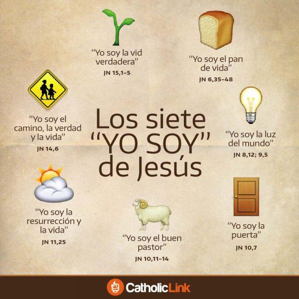 """Infografía: Los siete""""Yo soy"""" de Jesús"""