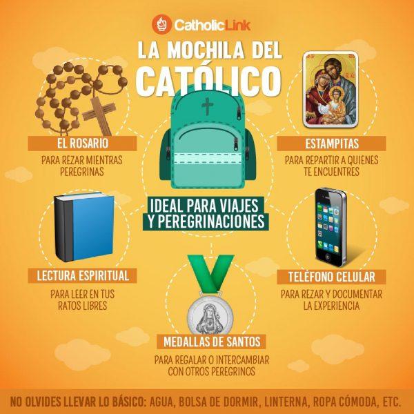 Infografía: La mochila del católico para peregrinaciones