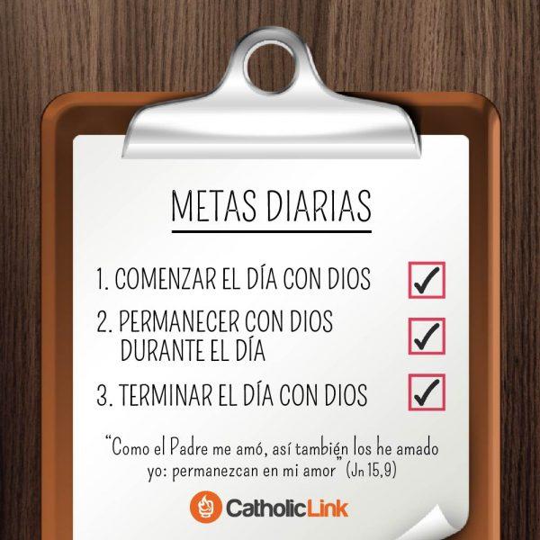 Metas diarias para permanecer con Dios