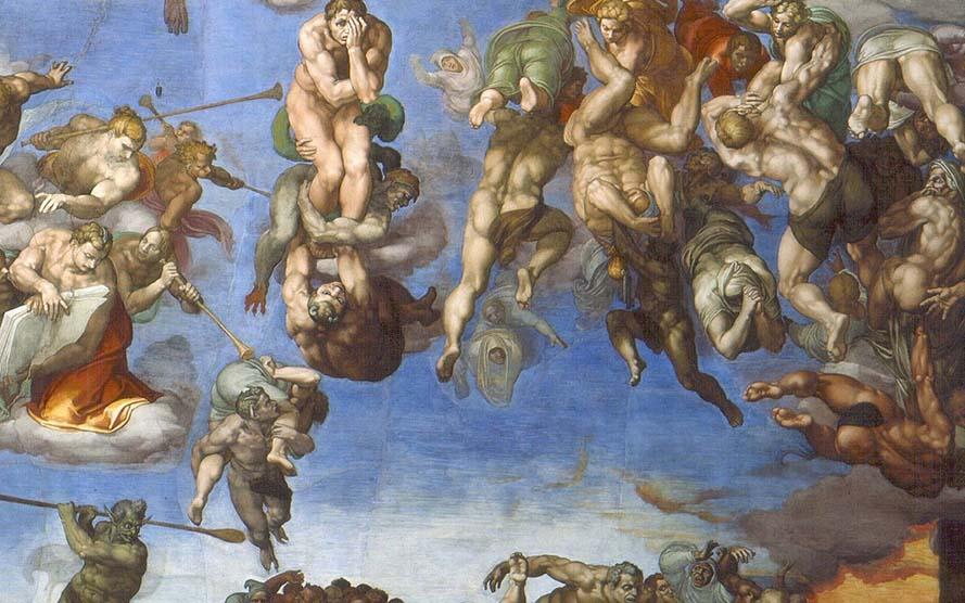 Resultado de imagen de infierno +capilla sixtina