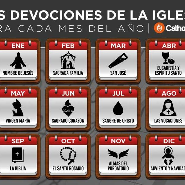 Infografía: Devociones de la Iglesia Católica para cada mes