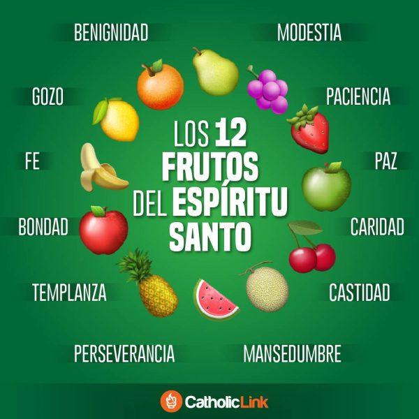 Infografía: Los 12 frutos del Espíritu Santo