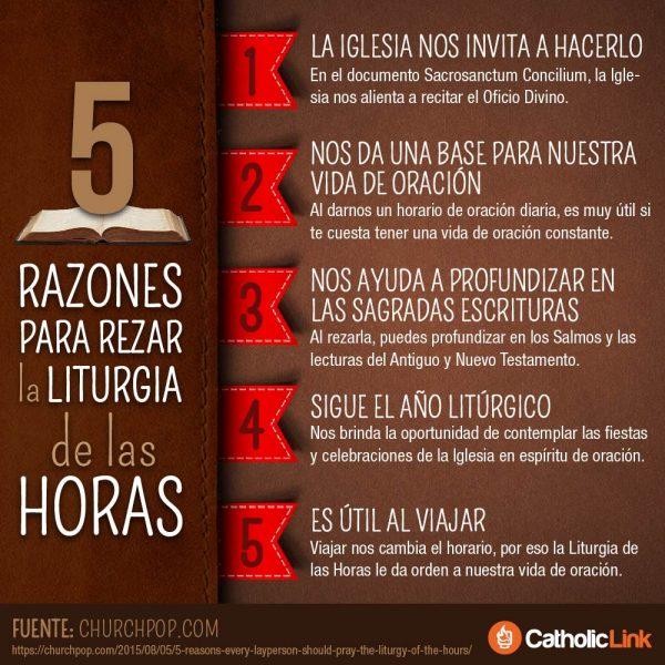 Infografía: 5 razones para rezar la Liturgia de las Horas