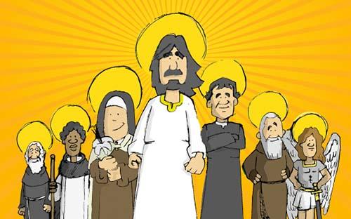 Superhéroes, 9 santos que eran superhéroes en su tiempo libre (¡y su gran capitán!)