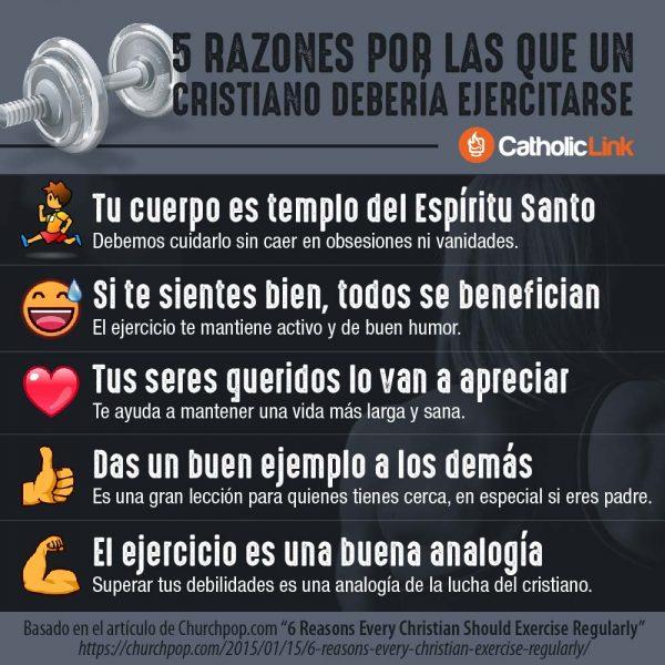 Infografía: 5 razones por las que un cristiano debería ejercitarse
