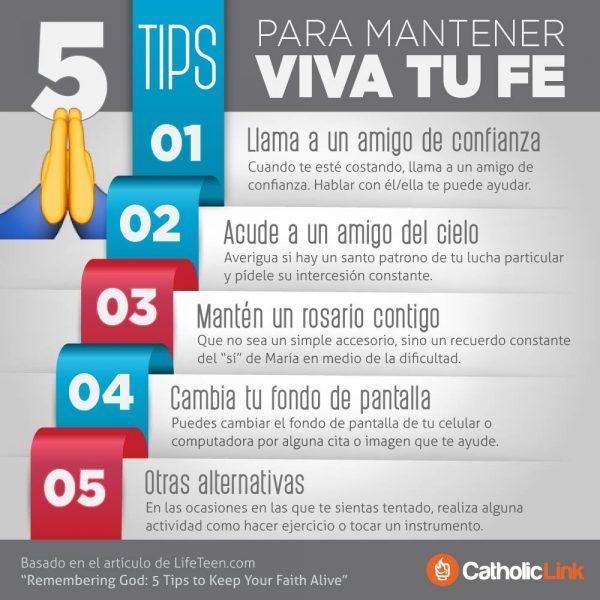 Infografía: 5 tips para mantener viva tu fe