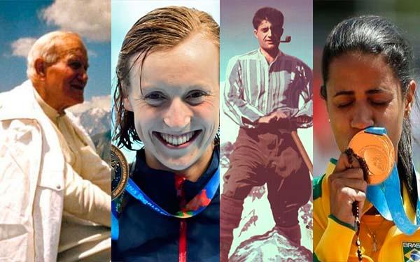 Deporte, Desde los santos hasta los actuales competidores Olímpicos. El deporte como espacio de fe