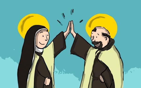 Amigos, Cuando los santos son amigos… 10 historias inigualables