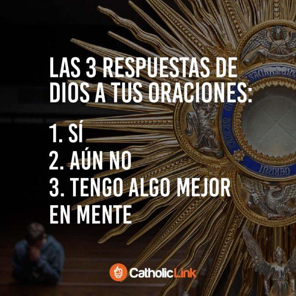 Las 3 respuestas de Dios a tus oraciones