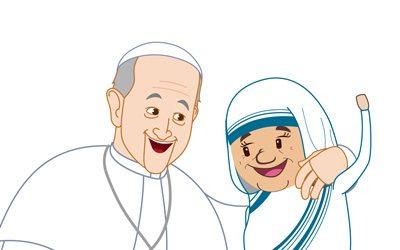 Teresa, (VIRAL) El primer dibujo animado de SANTA Teresa de Calcuta – Un minuto con Francisco